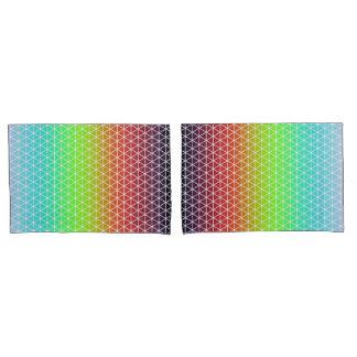Triangle Rainbow Geometric Framework Tessellation Pillowcase