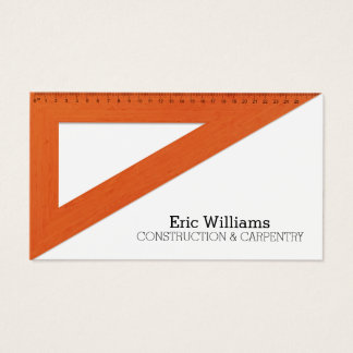Triangle ruler cover business card