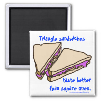 Triangle Sandwiches Square Magnet