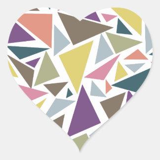 Triangle Scatter Heart Sticker