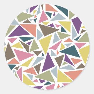 Triangle Scatter Round Sticker