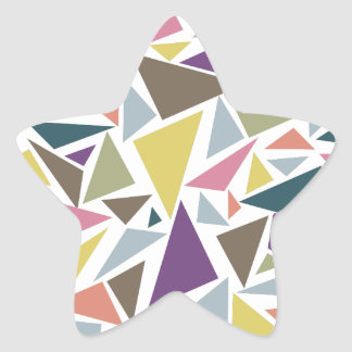 Triangle Scatter Star Sticker