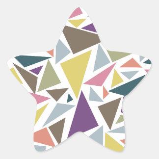 Triangle Scatter Star Sticker