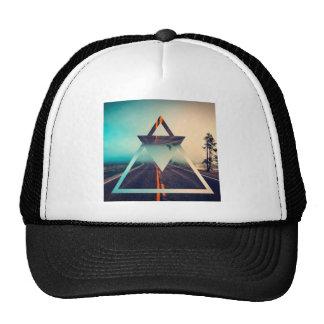Triangle Shape Background Bright Pyramid Design Trucker Hat