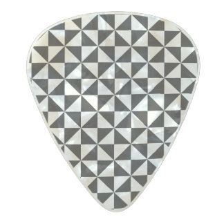 Triangle Shape pattern Pearl Celluloid Guitar Pick
