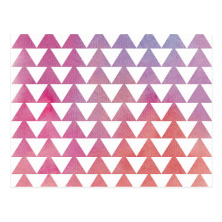 Triangle Watercolor Background Postcard