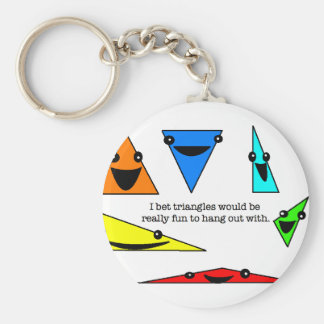 Triangles Are Fun Keychain