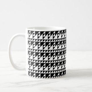 Triangles black and white minimalist art coffee mug