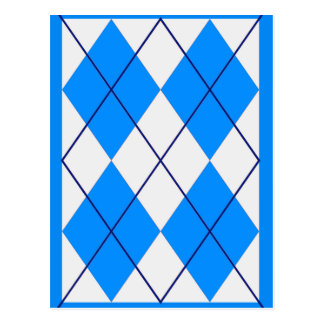 Triangles -Blue & White Postcard