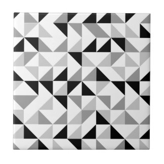 Triangles geometric pattern tile