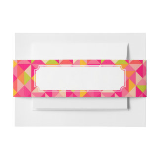 Triangles geometrical pattern invitation belly band