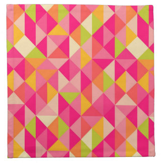 Triangles geometrical pattern napkin