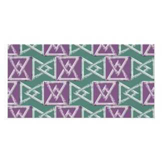 Triangles geometrical pattern personalised photo card