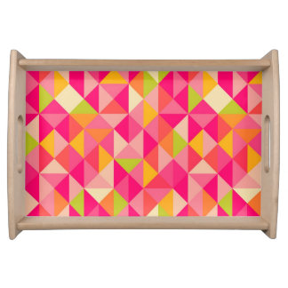 Triangles geometrical pattern serving tray