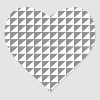 Triangles - Gray and Light Gray Heart Sticker