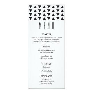 Triangles Modern Wedding Menu 10 Cm X 24 Cm Invitation Card
