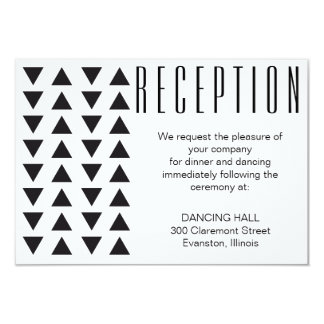 Triangles Modern Wedding Reception insert card