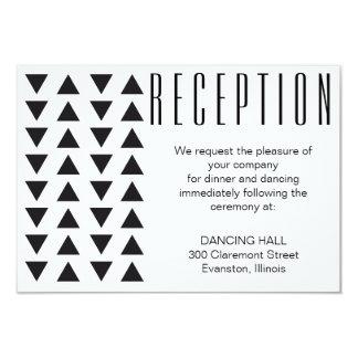 Triangles Modern Wedding Reception insert card 9 Cm X 13 Cm Invitation Card