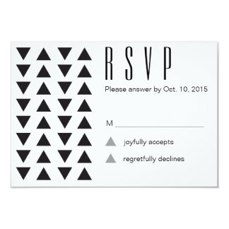 Triangles Modern Wedding RSVP 9 Cm X 13 Cm Invitation Card