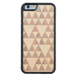 Triangles of colors carved® maple iPhone 6 bumper