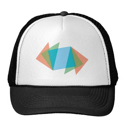 Triangles of triangles trucker hat