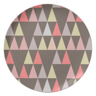 triangles on gray pattern plate