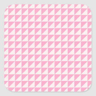 Triangles - Pale Pink and Carnation Pink Sticker