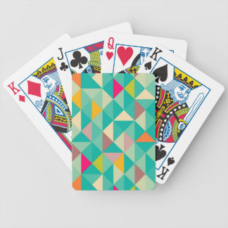 Triangles pattern bicycle playing cards