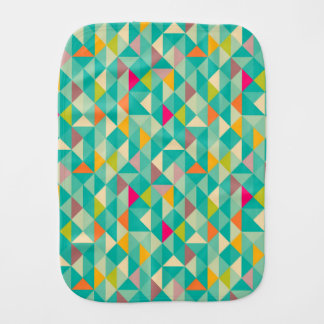 Triangles pattern burp cloth