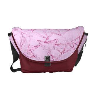 Triangles Pattern Messenger Bag