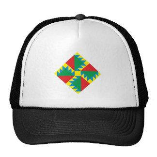 Triangles square triangles square trucker hats
