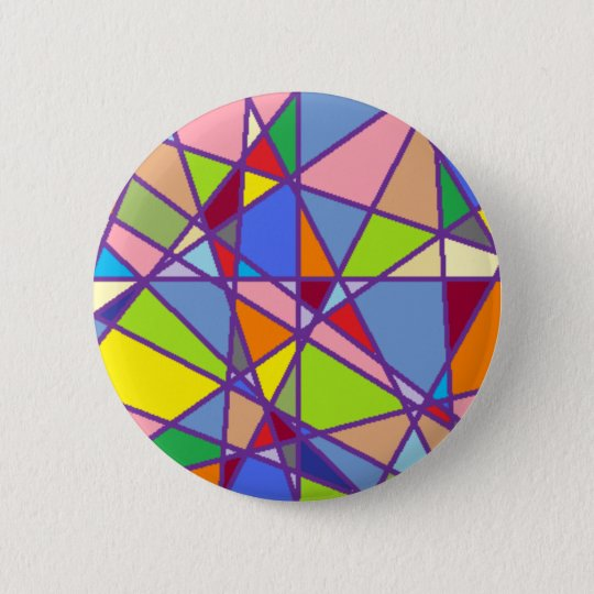 Triangluars 6 Cm Round Badge