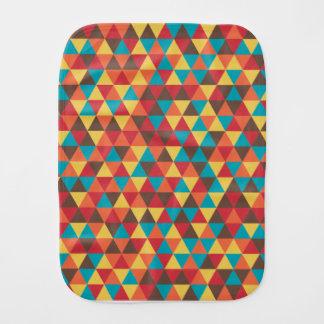 Triangular colorful burp cloth