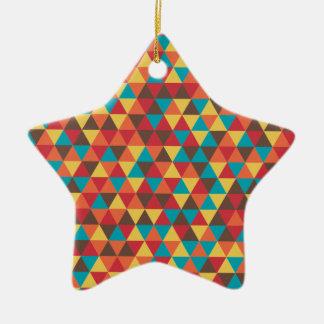 Triangular colorful christmas ornament