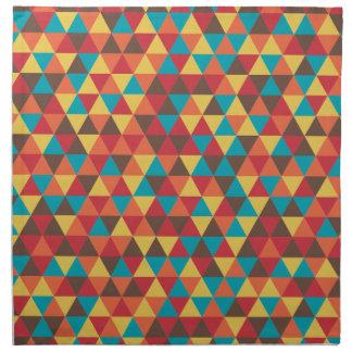 Triangular colorful napkin