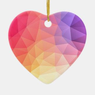 Triangular pattern christmas ornament