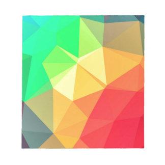 Triangular pattern notepads
