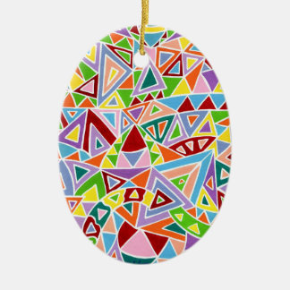 Triangulation Ceramic Oval Decoration