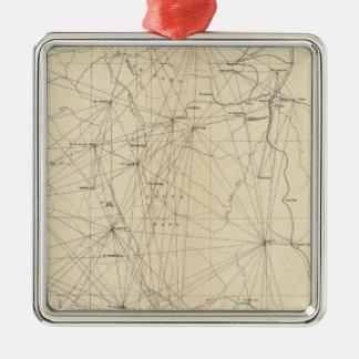Triangulation Map of Colorado Christmas Ornament