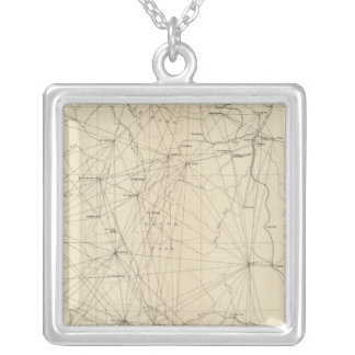 Triangulation Map of Colorado Silver Plated Necklace