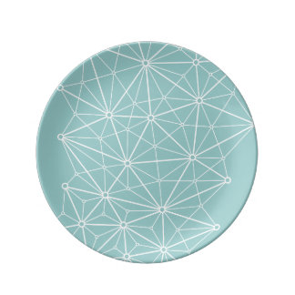 Triangulation Network Porcelain Plate