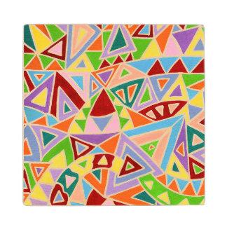 Triangulation Wood Coaster