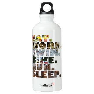 Triathlete Eat Work Swim Bike Run Sleep Daily Life SIGG Traveller 0.6L Water Bottle