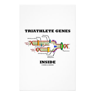 Triathlete Genes Inside (DNA Replication) Personalised Stationery