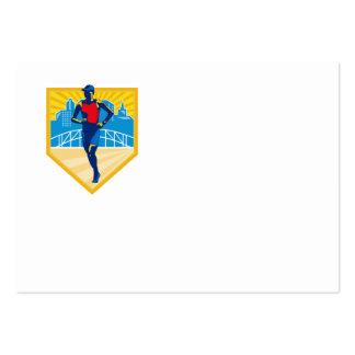 Triathlete Marathon Runner Retro Business Card Templates