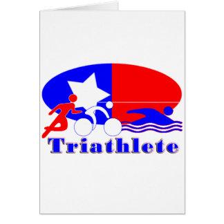 Triathlete RED /WHITE/ BLUE Greeting Card
