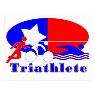 Triathlete RED /WHITE/ BLUE Postcard