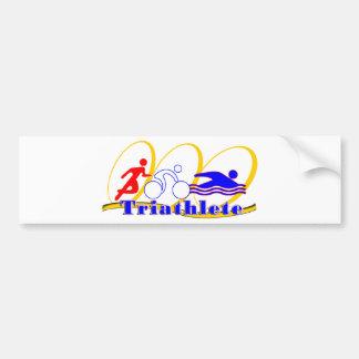 Triathlete SWIM RUN BIKE Bumper Sticker