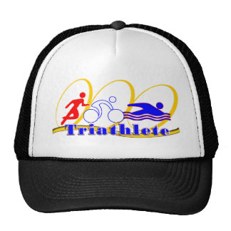 Triathlete SWIM RUN BIKE Trucker Hat