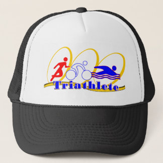 Triathlete SWIM RUN BIKE Trucker Hat